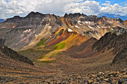 Cloudy Photo Prints - Blue Lakes Pass Print by Aaron Spong
