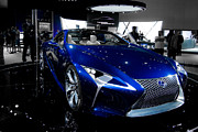 Guinapora Graphics Prints - Blue Lexus LF-LC Concept Print by Guinapora Graphics