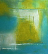 Moody Paintings - Blue Lime by Tia Marie McDermid