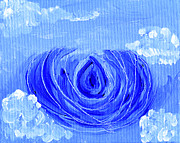 Blue - Blue Lotus In The Sky by Lynn-Marie Gildersleeve