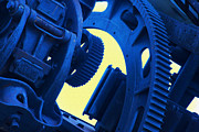 Machinists Photos - Blue Machinery by Mike Flynn