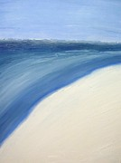 Surf Artist Paintings - Blue Malibu by AC Maki