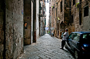 Naples Metal Prints - Blue Metal Print by Marion Galt