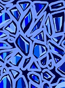 Lives Lost Digital Art - Blue Maze by Larisa Kaire