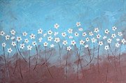 Dancing In Moonlight Posters - Blue meadow Poster by Anja Homeart