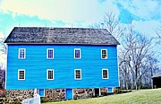 Rick Todaro Prints - Blue Mill Historic Walnford Mill  Print by Rick Todaro
