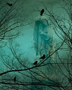 Gothic Crows Posters - Blue Mist Poster by Gothicolors And Crows