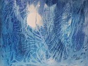 Vines Paintings - Blue Moon by Ellen Levinson