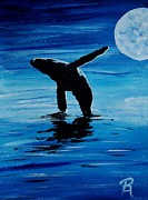 Whale Photo Originals - Blue Moon I - Left Side - Acrylic by GD Rankin