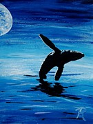 Whale Photo Originals - Blue Moon II - Right Side - Acrylic by GD Rankin