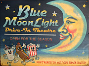 Sign In Florida Photo Prints - Blue Moon Light Print by Sherry Dooley