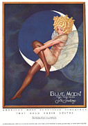 Clothing Drawings - Blue Moon Silk Stockings 1920s Usa by The Advertising Archives
