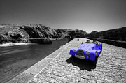 Morgan Art - Blue Morgan at Mullion  by Rob Hawkins