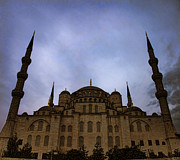 Byzantine Art - Blue Mosque at night 02 by Antony McAulay