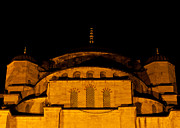 Mosque Photos - Blue Mosque At Night 03 by Rick Piper Photography
