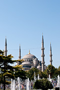 Mosque Photos - Blue Mosque Blue Sky 02 by Rick Piper Photography