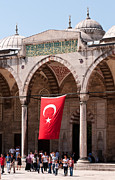 Istanbul Posters - Blue Mosque Courtyard Portico Poster by Rick Piper Photography