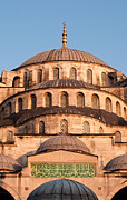 Domes Prints - Blue Mosque Domes 02 Print by Rick Piper Photography