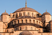 Domes Prints - Blue Mosque Domes 03 Print by Rick Piper Photography