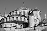 Domes Prints - Blue Mosque Domes 06 Print by Rick Piper Photography