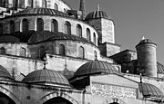 Domes Prints - Blue Mosque Domes 10 Print by Rick Piper Photography