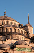Domes Prints - Blue Mosque Domes 11 Print by Rick Piper Photography