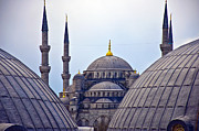 Byzantine Art - Blue Mosque from hagia sophia by Antony McAulay
