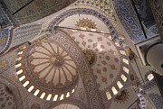 Urban City Areas Photos - Blue Mosque Interior Istanbul by Craig Lovell