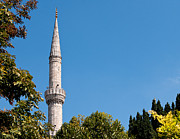 Mosque Photos - Blue Mosque Minaret 01 by Rick Piper Photography
