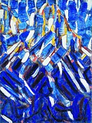 REPRODUCTION - Blue Mountain - Abstraction
