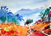 Australia Drawings - Blue Mountains bush walk Australia by Roberto Gagliardi
