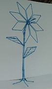 Petals Sculptures - Blue Nail Flower by Antonin Gauthier