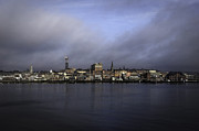 Vicki Jauron Metal Prints - Blue New London Morning Metal Print by Vicki Jauron