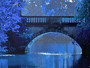 Maureen Digital Art - Blue Night Bridge by Maureen Tillman