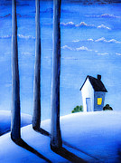 Suburbs Paintings - Blue Nights by Nirdesha Munasinghe