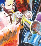 Concert Mixed Media Originals - Blue Notes by Jonathan Tyson