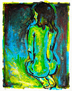 Vox Prints - Blue Nude Print by Michael Leporati