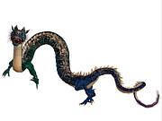 Corey Ford - Blue Ornamental Dragon