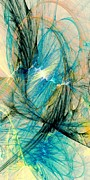 Magical Mixed Media Metal Prints - Blue Phoenix Metal Print by Anastasiya Malakhova