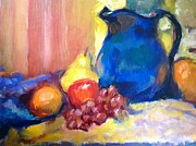 Assorted Originals - Blue pitcher by Hilarie Couture