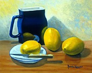 Madeline  Lovallo - Blue Pitcher with Lemons