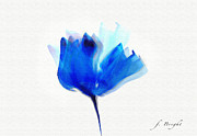 Frank Bright - Blue Poppy Silouette...