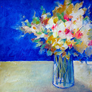 Floral Pictures Painting Prints - Blue Posy Print by Susanne Clark