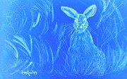 Peggy Leyva Conley - Blue Rabbit in Field