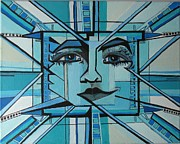 Action Lines Drawings - Blue Ray - Sun by Grace Liberator
