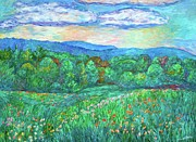 Blue Ridge Meadow Print by Kendall Kessler