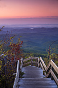 Pink Dawn Prints - Blue Ridge Morning Print by Andrew Soundarajan