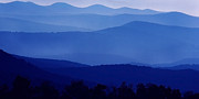 Appalachian Mountains Framed Prints - Blue Ridge Mountain Panoramic  Framed Print by Thomas R Fletcher