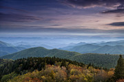 Fine Art Photograph Metal Prints - Blue Ridge Mountains at Dusk Metal Print by Andrew Soundarajan