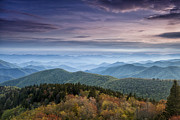 Cowee Mountain Overlook Prints - Blue Ridge Mountains Dreams Print by Andrew Soundarajan